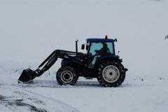 Trattore in inverno